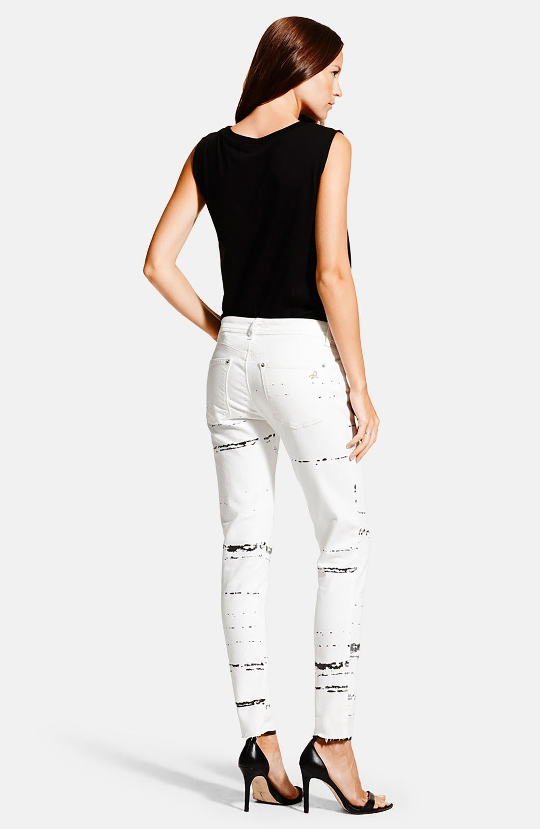 Alternate Image 2  - DL1961 'Emma' Power Legging Jeans (Splatter)