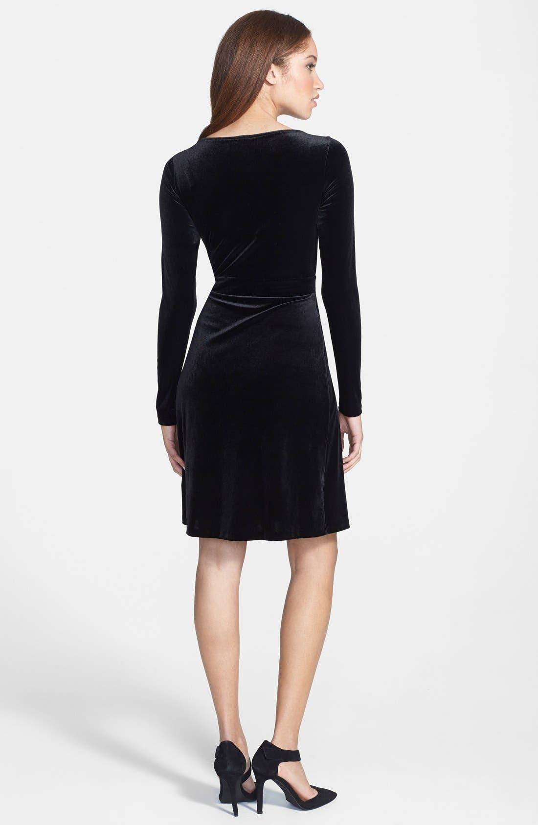 Alternate Image 2  - Anne Klein Velvet Wrap Dress