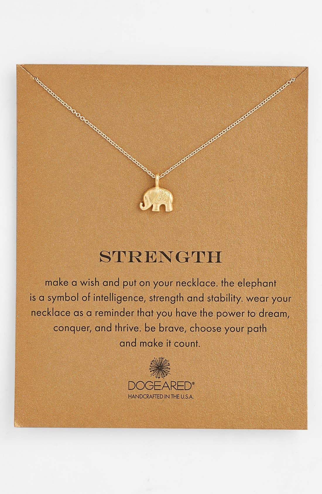 Alternate Image 1 Selected - Dogeared 'Reminder - Strength' Pendant Necklace