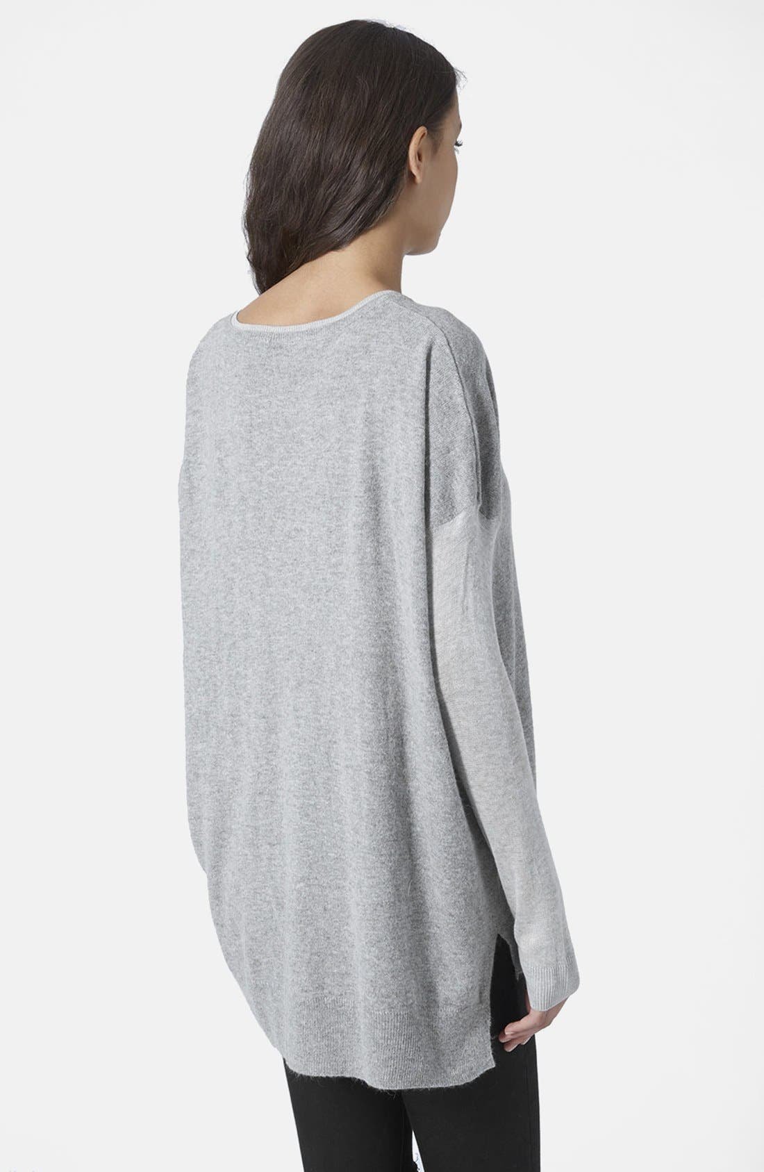 Alternate Image 3  - Topshop V-Neck Sweater
