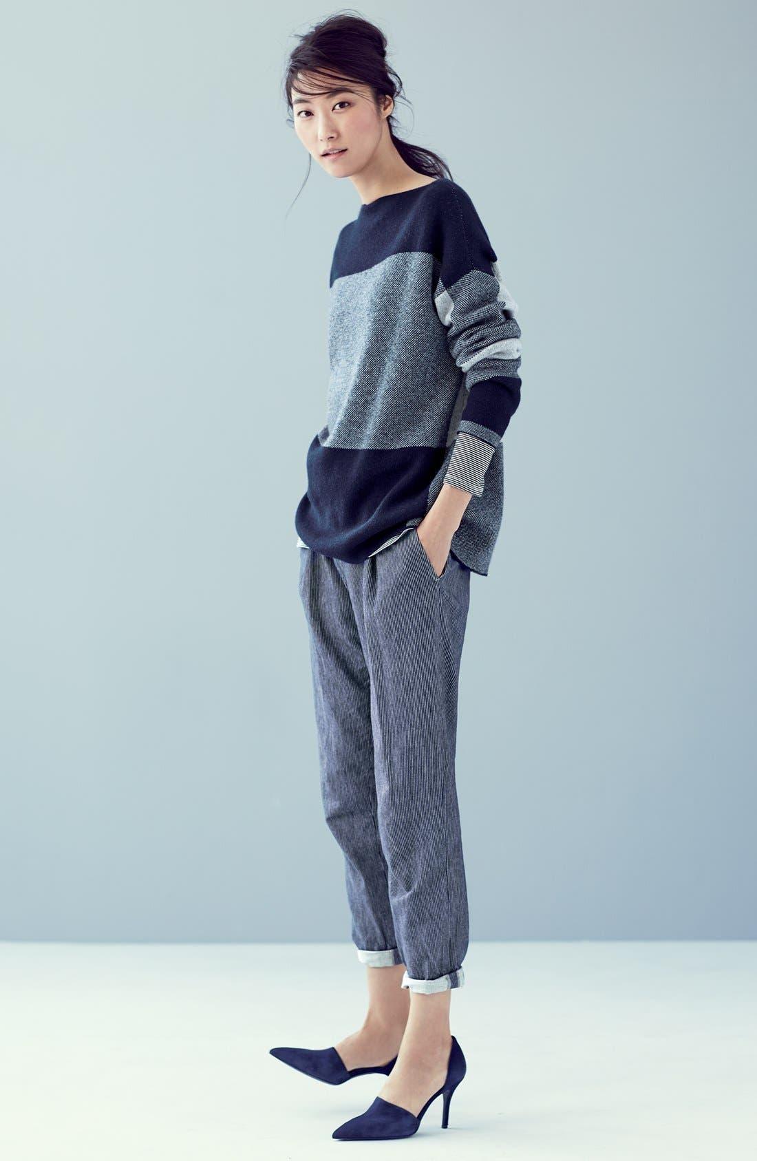 Alternate Image 6  - Vince Intarsia Colorblock Sweater