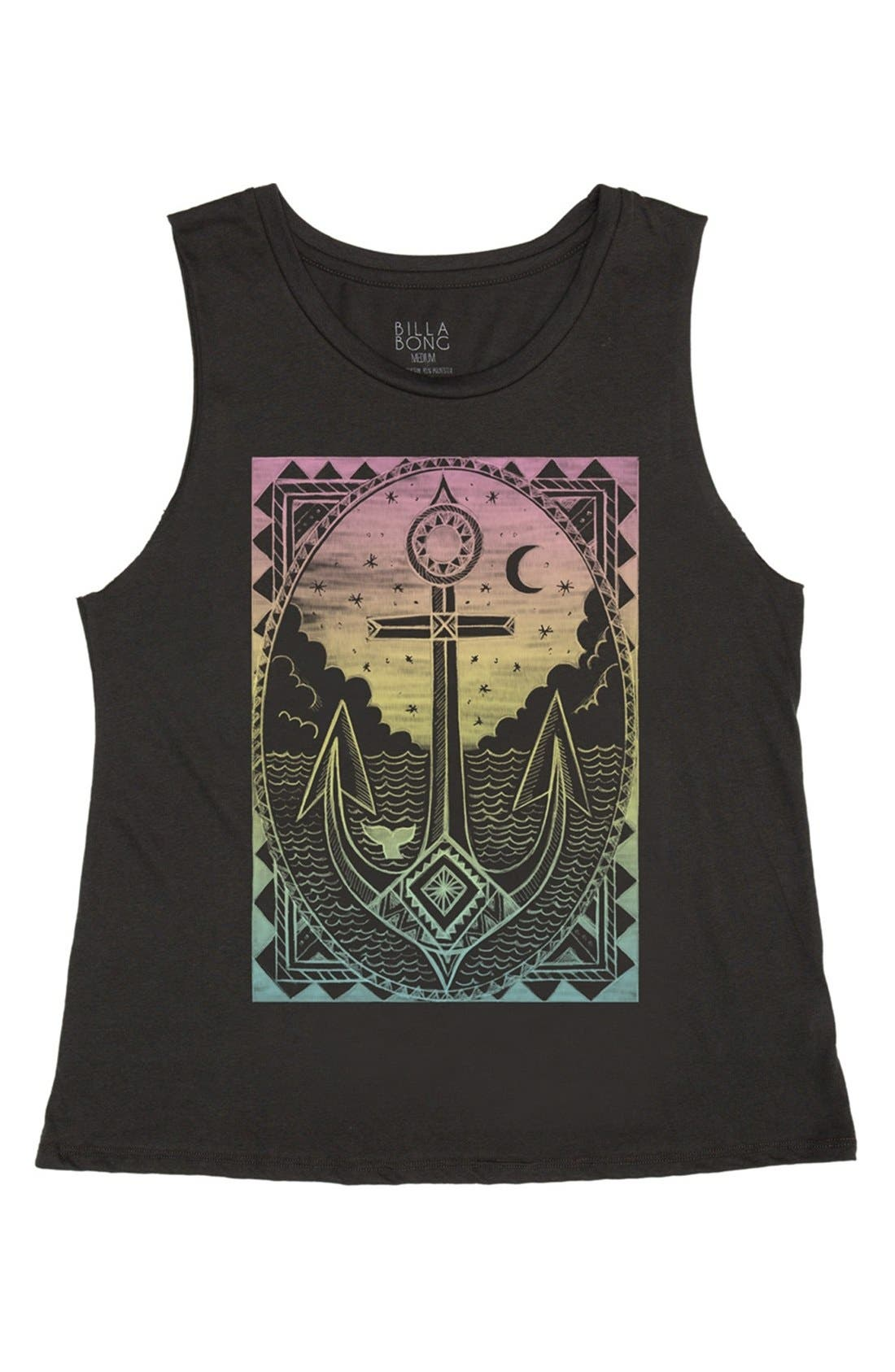 Alternate Image 1 Selected - Billabong 'Vintage Anchor' Graphic Muscle Tee (Juniors)