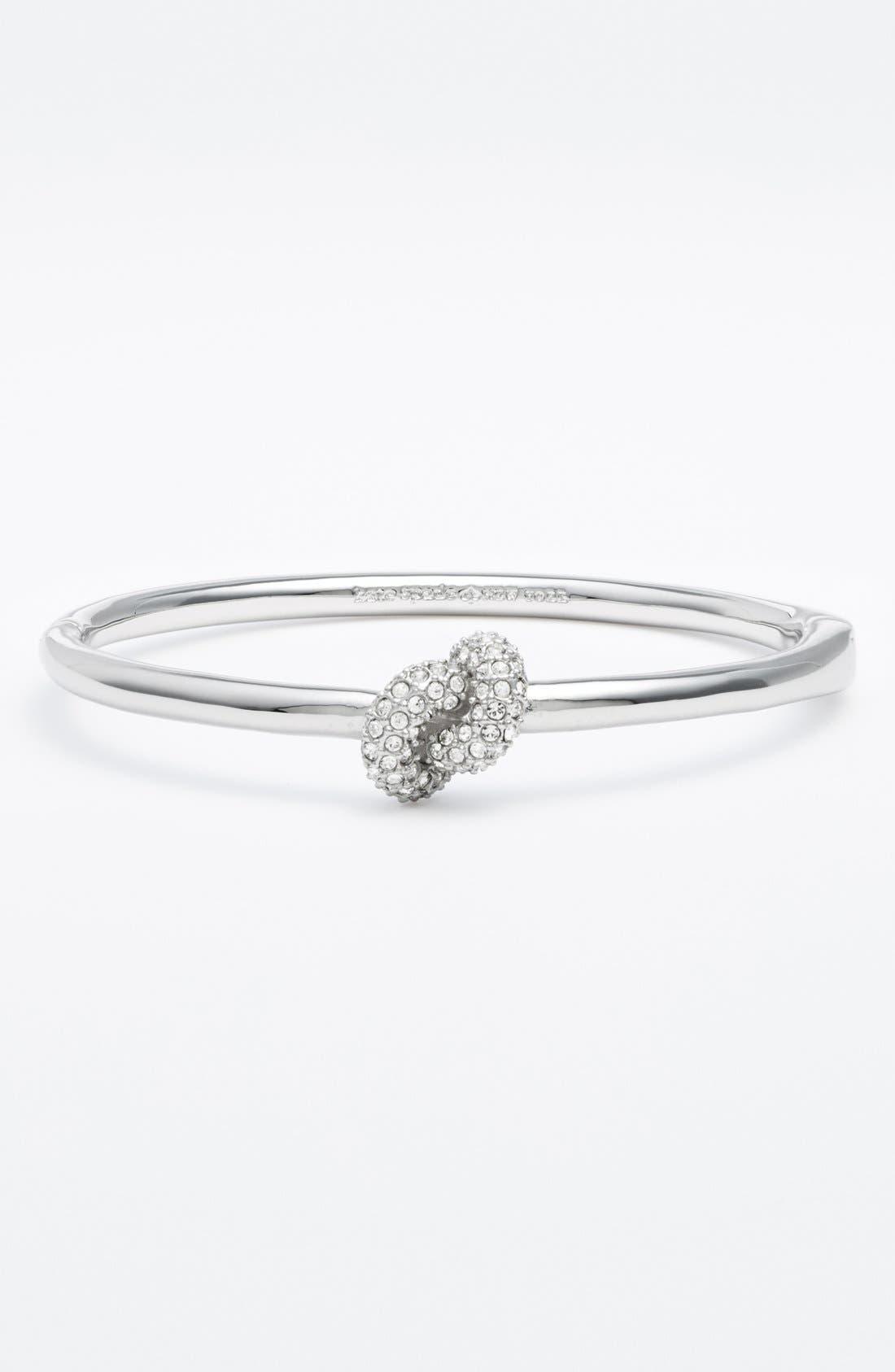 'sailors' knot' hinged bracelet,                             Main thumbnail 1, color,                             Clear/ Silver