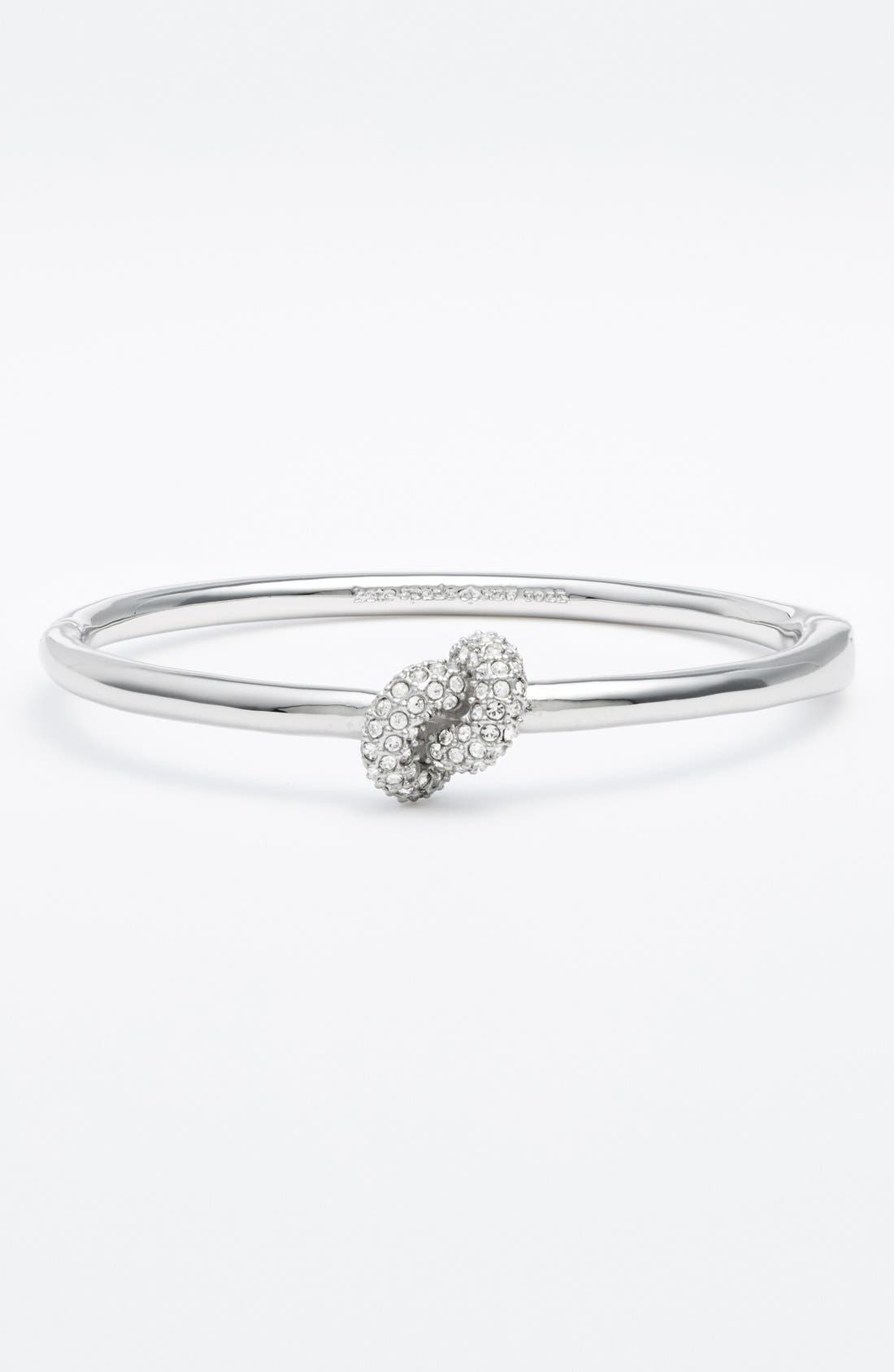 'sailors' knot' hinged bracelet,                         Main,                         color, Clear/ Silver