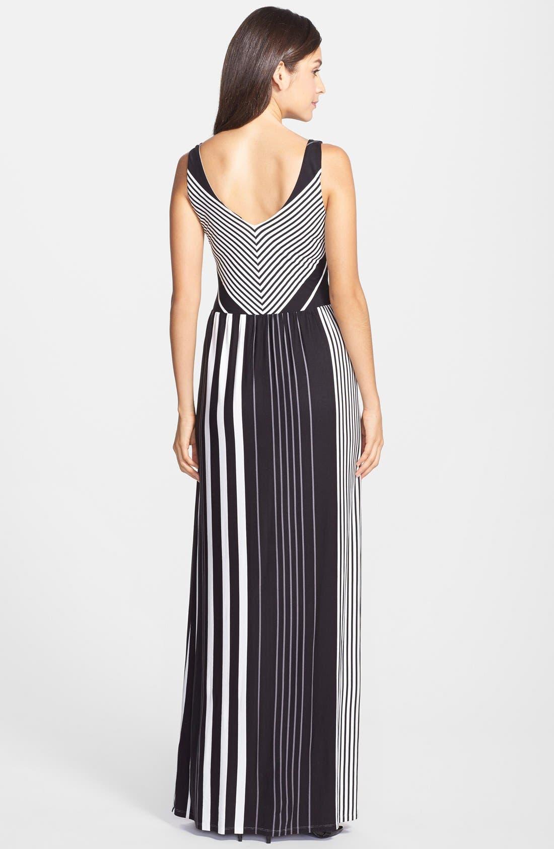 Alternate Image 2  - Felicity & Coco Stripe V-Neck Maxi Dress (Regular & Petite) (Nordstrom Exclusive)