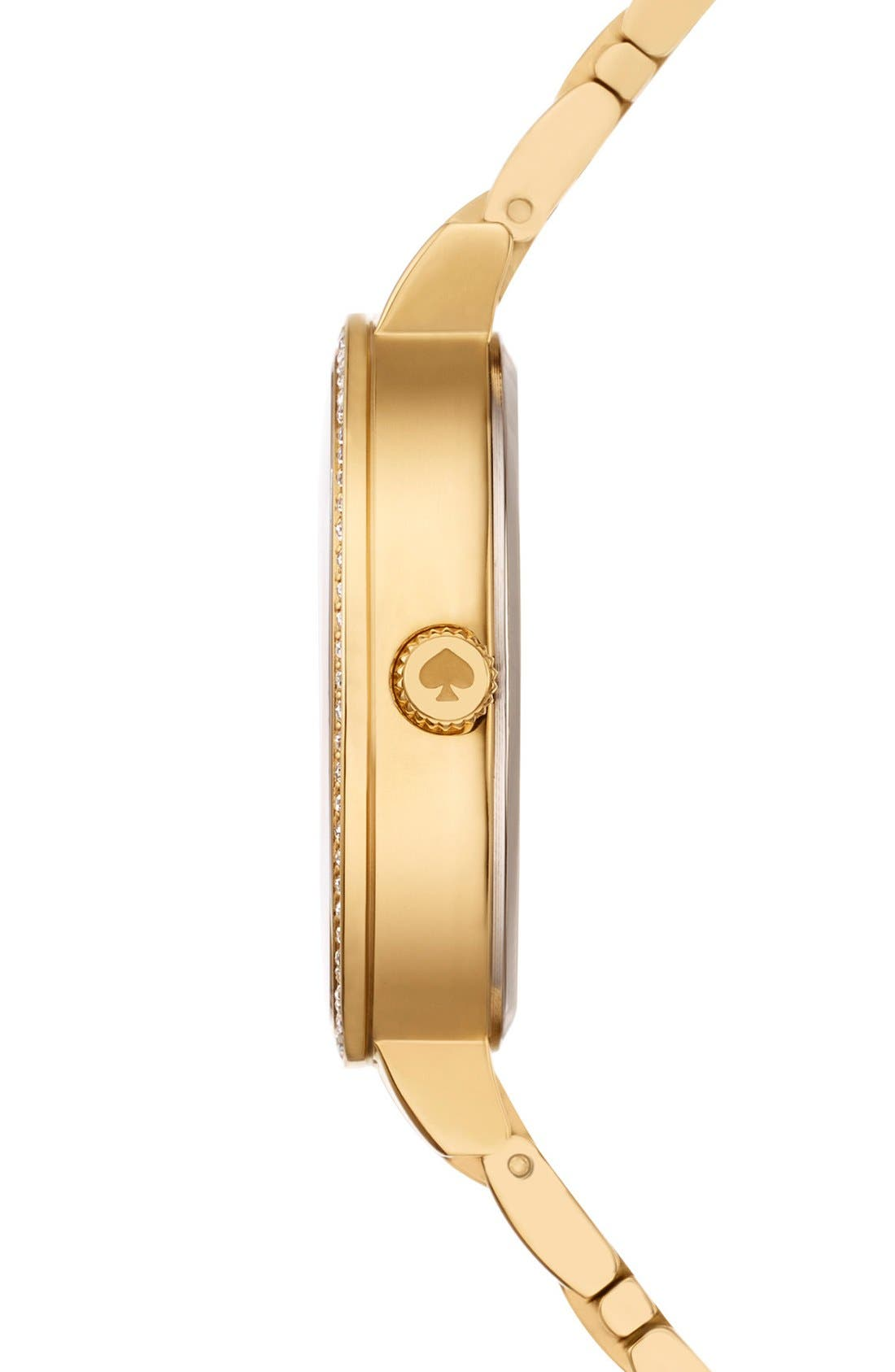 Alternate Image 3  - kate spade new york 'gramercy' crystal bezel bracelet watch, 34mm