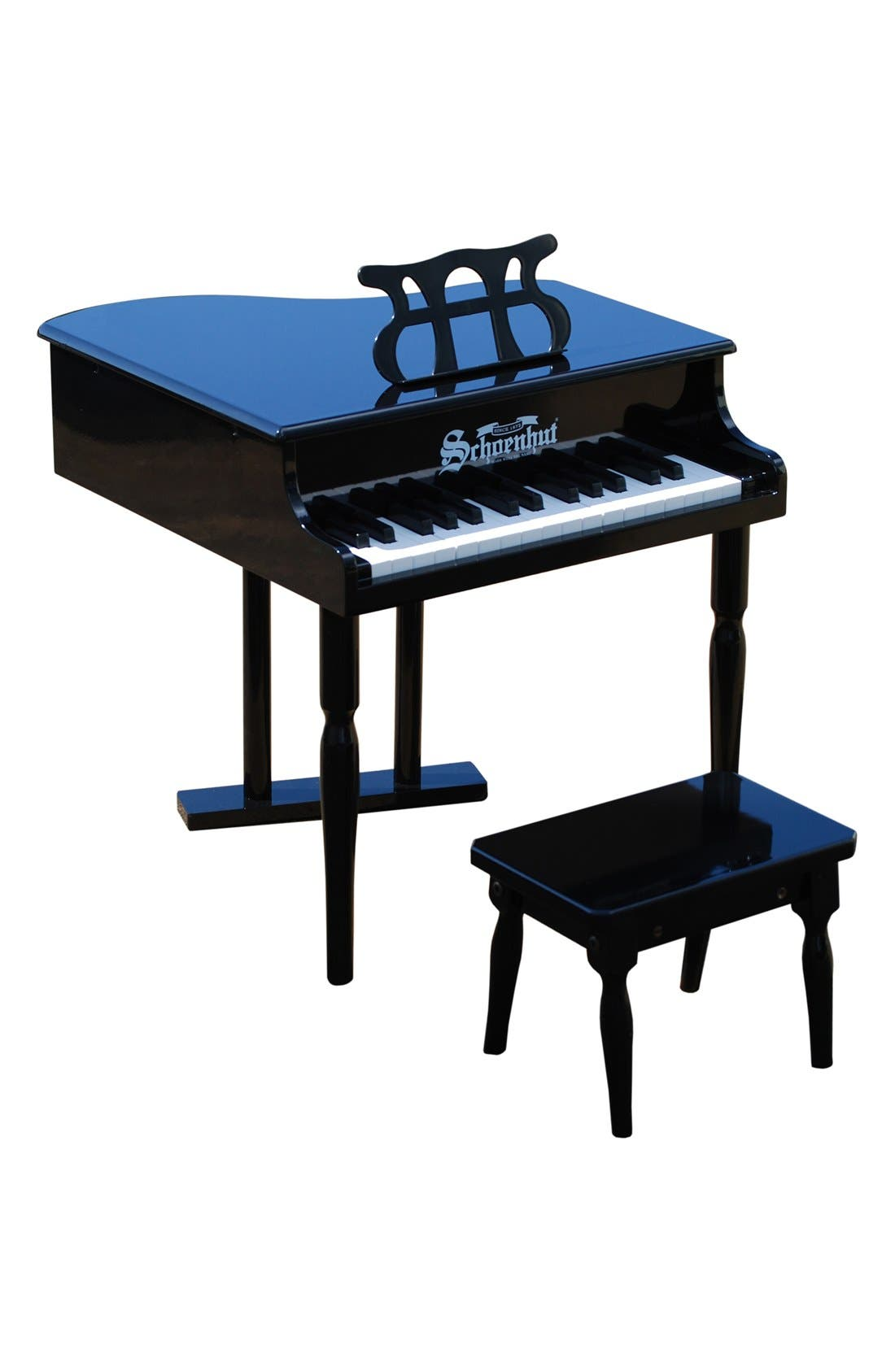 'Classic' Baby Grand Piano,                         Main,                         color, Black