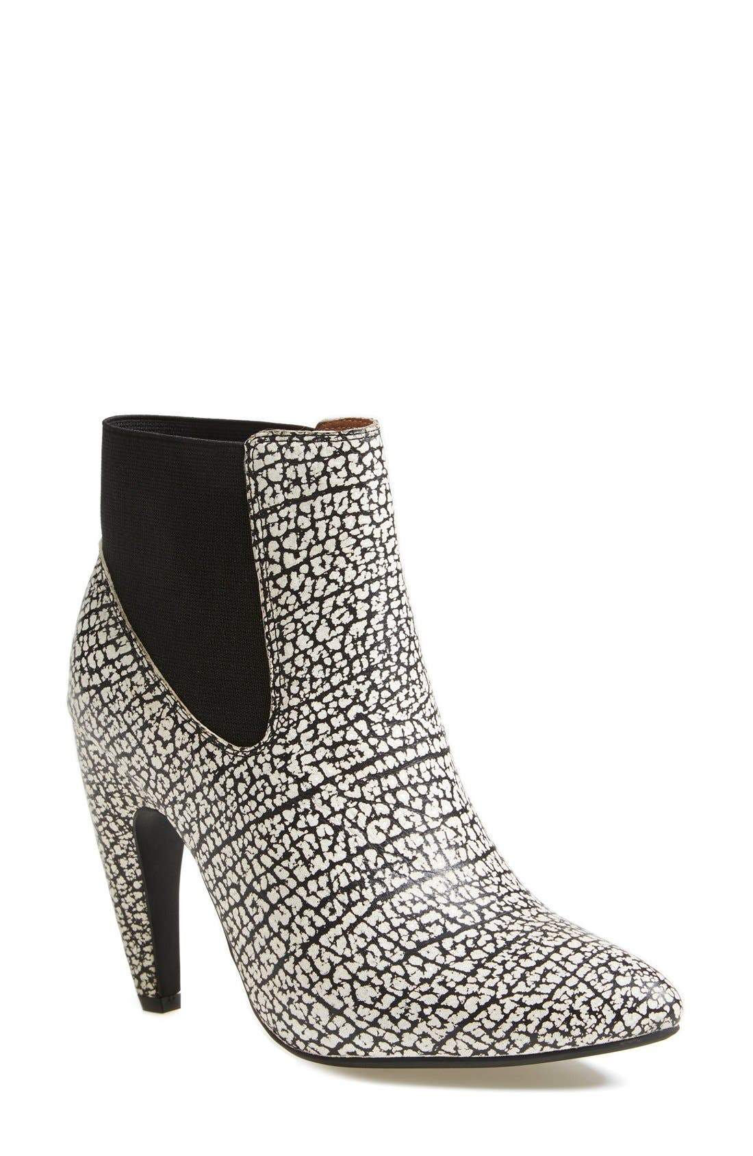 Alternate Image 1 Selected - Jeffrey Campbell 'Calzino' Suede Bootie (Women)