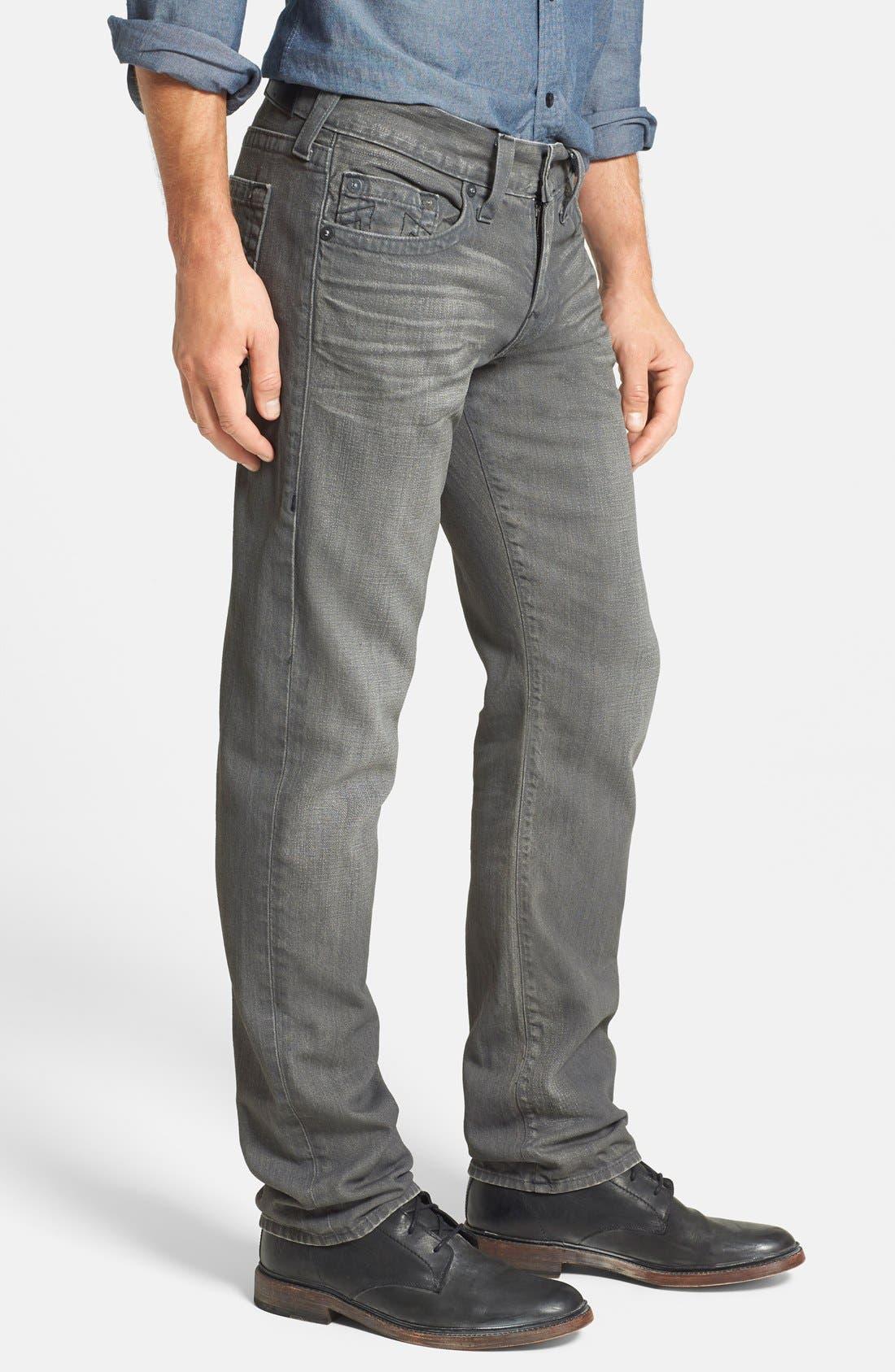Alternate Image 3  - True Religion Brand Jeans 'Geno' Straight Leg Jeans (Concrete Hill)