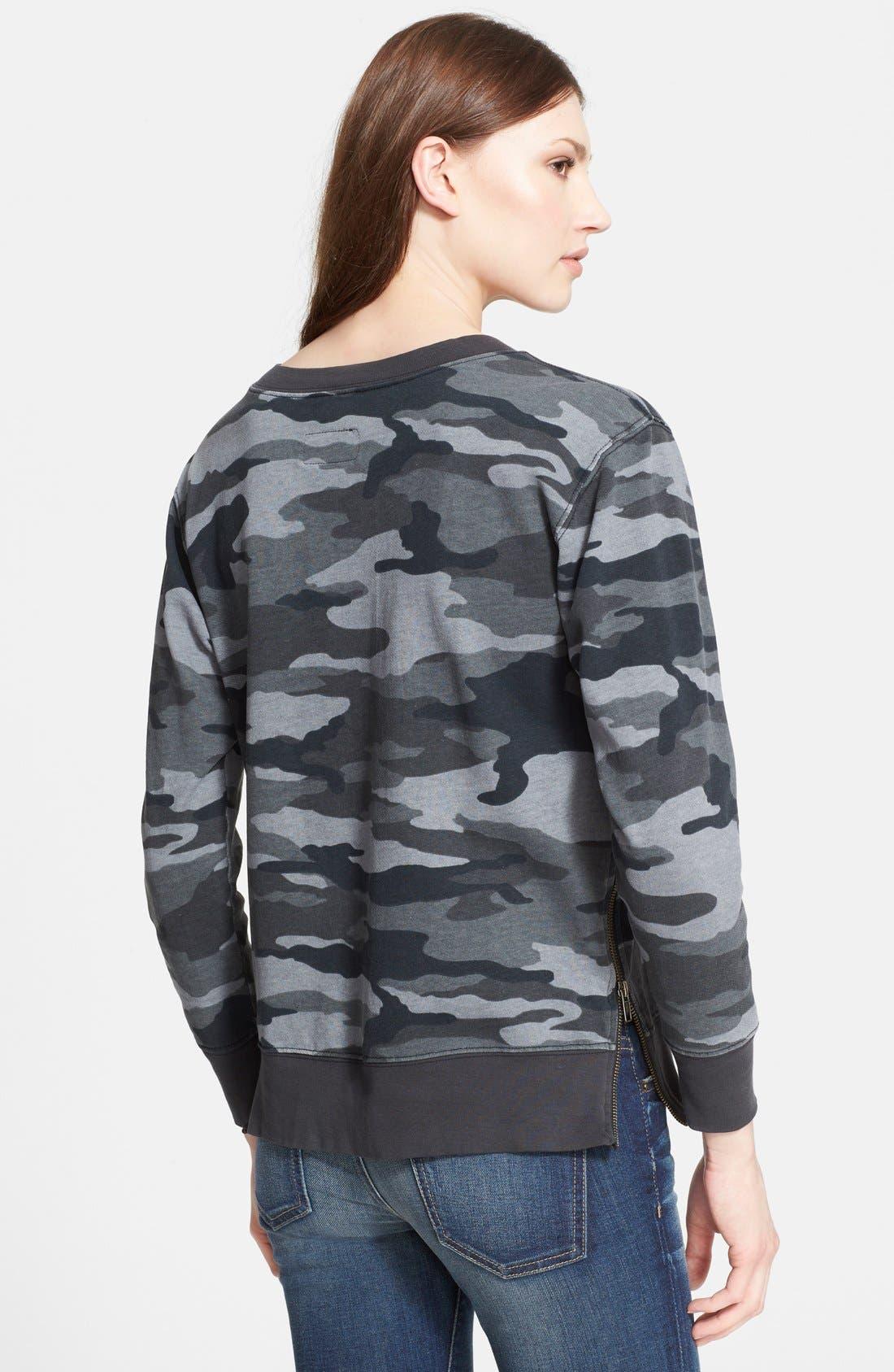Alternate Image 2  - Current/Elliott 'The Stadium' Side Zip Camo Sweater