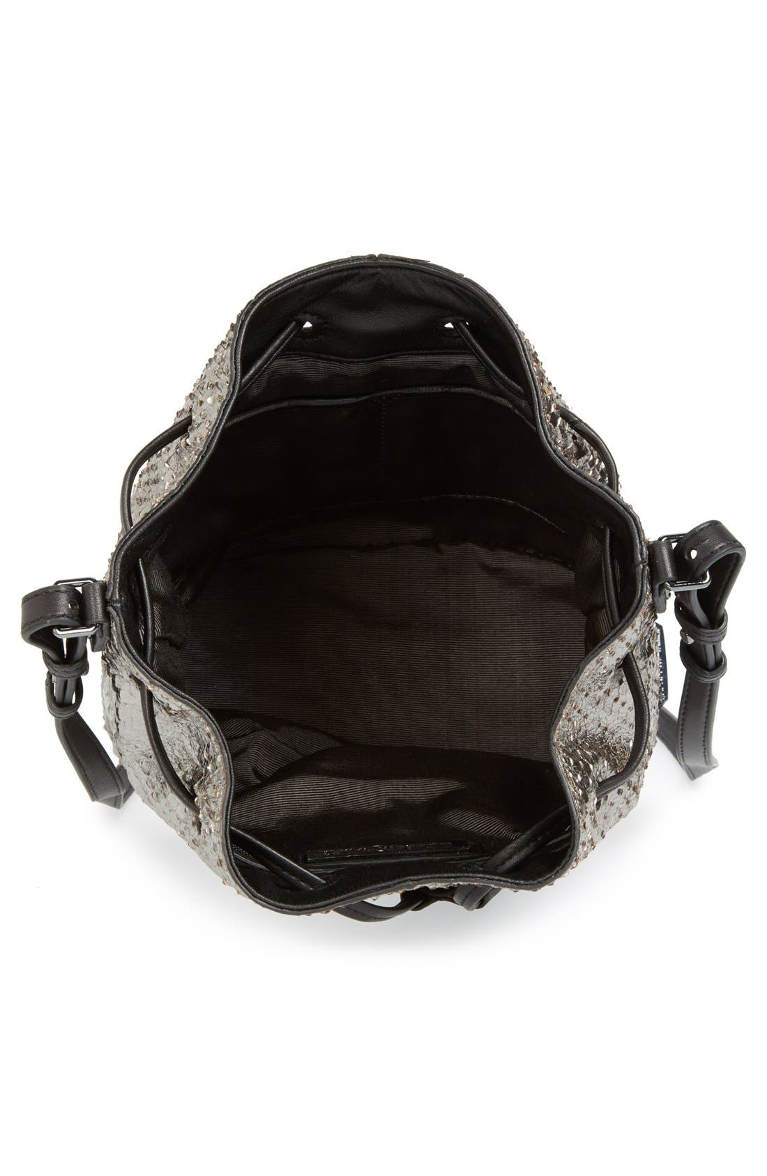 Alternate Image 3  - Elizabeth and James 'Mini Cynnie' Snake Effect Leather Convertible Bucket Bag