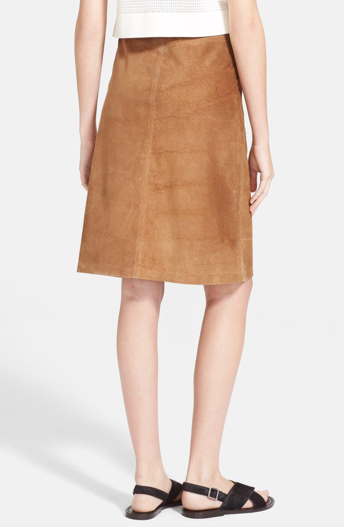 Alternate Image 2  - Theory 'Pemma' Suede Midi Skirt