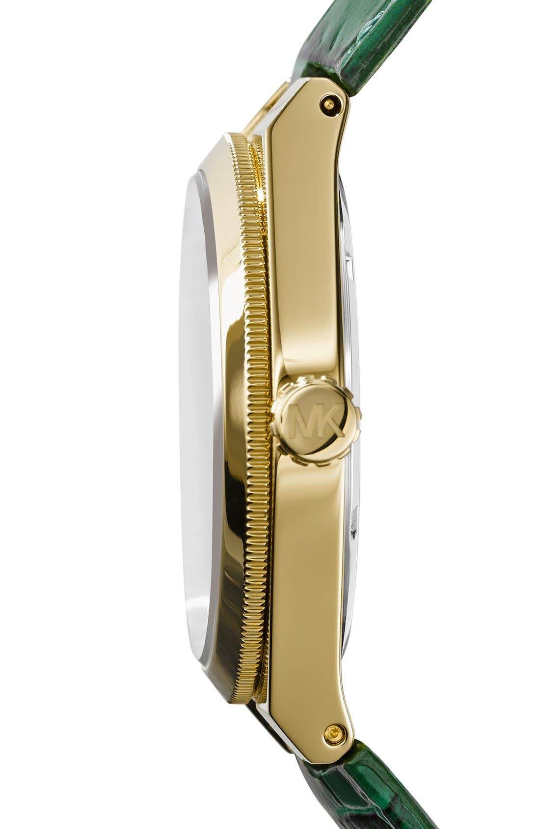 Alternate Image 2  - Michael Kors 'Channing' Leather Strap Watch, 38mm