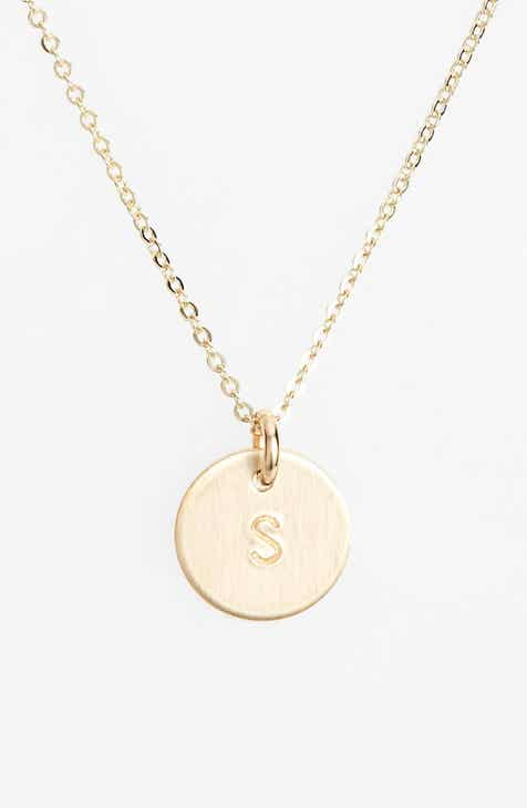 30873738b84e Nashelle 14k-Gold Fill Initial Mini Circle Necklace
