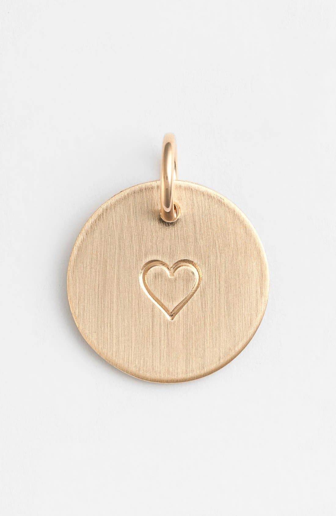 Heart Stamp Charm,                         Main,                         color, 14K Gold Fill Heart