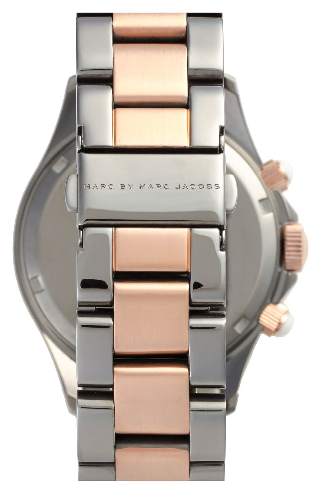 Alternate Image 2  - MARC JACOBS 'Rock' Chronograph Bracelet Watch, 40mm