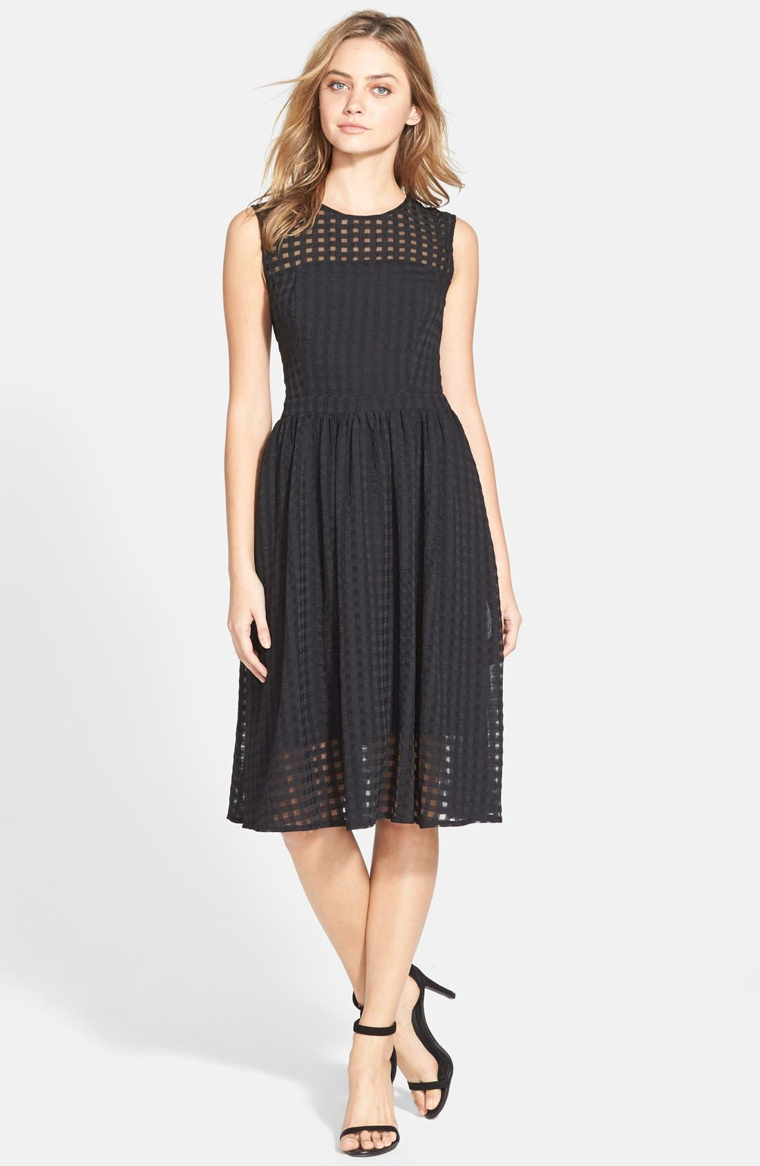 Alternate Image 3  - Donna Morgan Chiffon Fit & Flare Dress