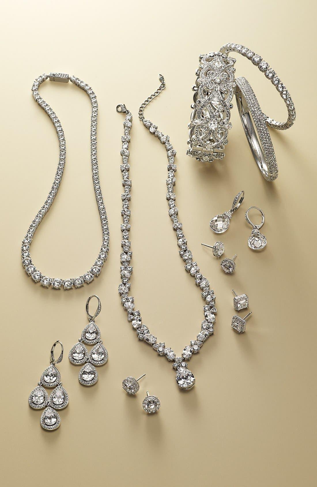 Alternate Image 2  - Nadri Faceted Crystal Drop Earrings