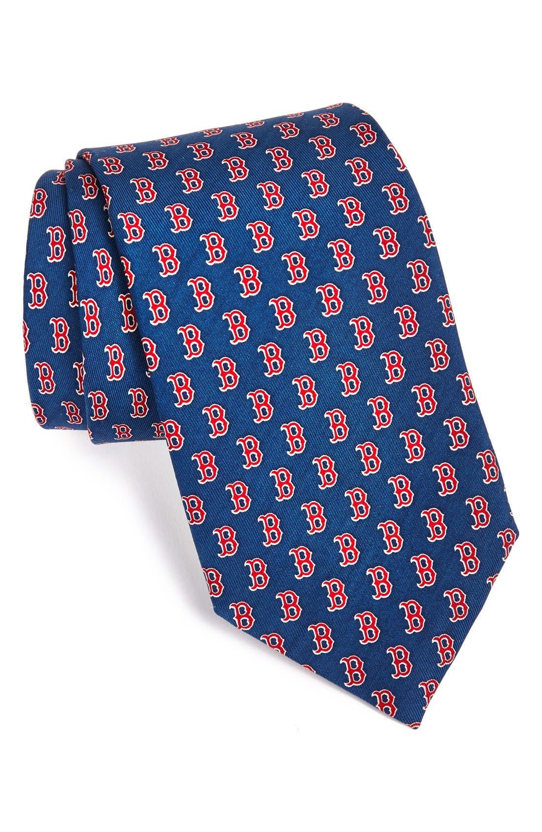 Boston Red Sox Silk Tie,                         Main,                         color, Navy