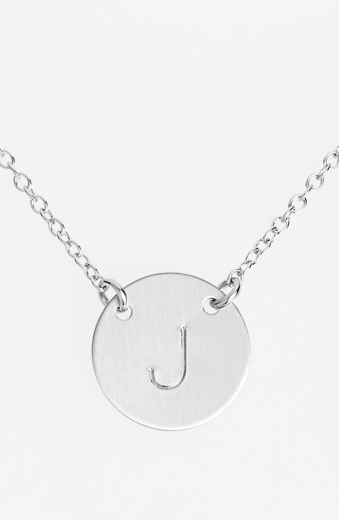 Main Image - Nashelle Sterling Silver Initial Disc Necklace