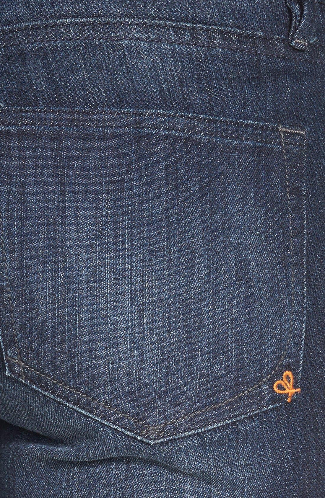 Alternate Image 3  - Dittos Mid Rise Super Skinny Jeans (Blue)