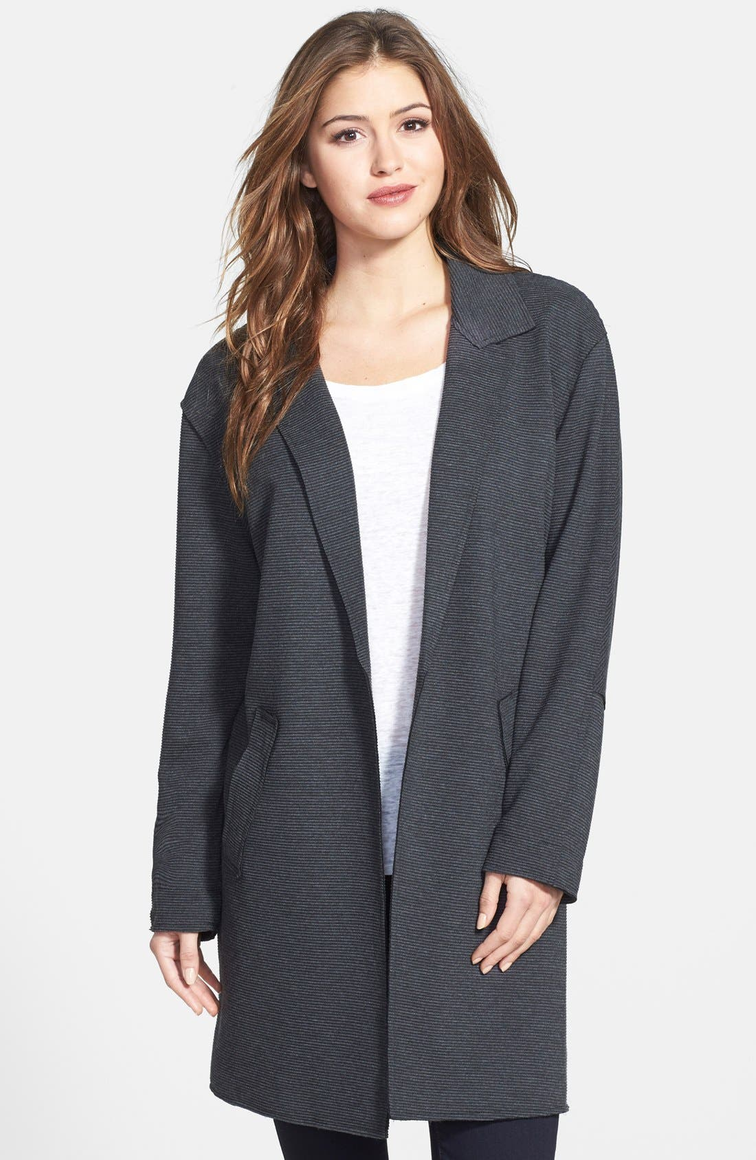 'Oversize' Cardigan,                         Main,                         color, Heather Charcoal
