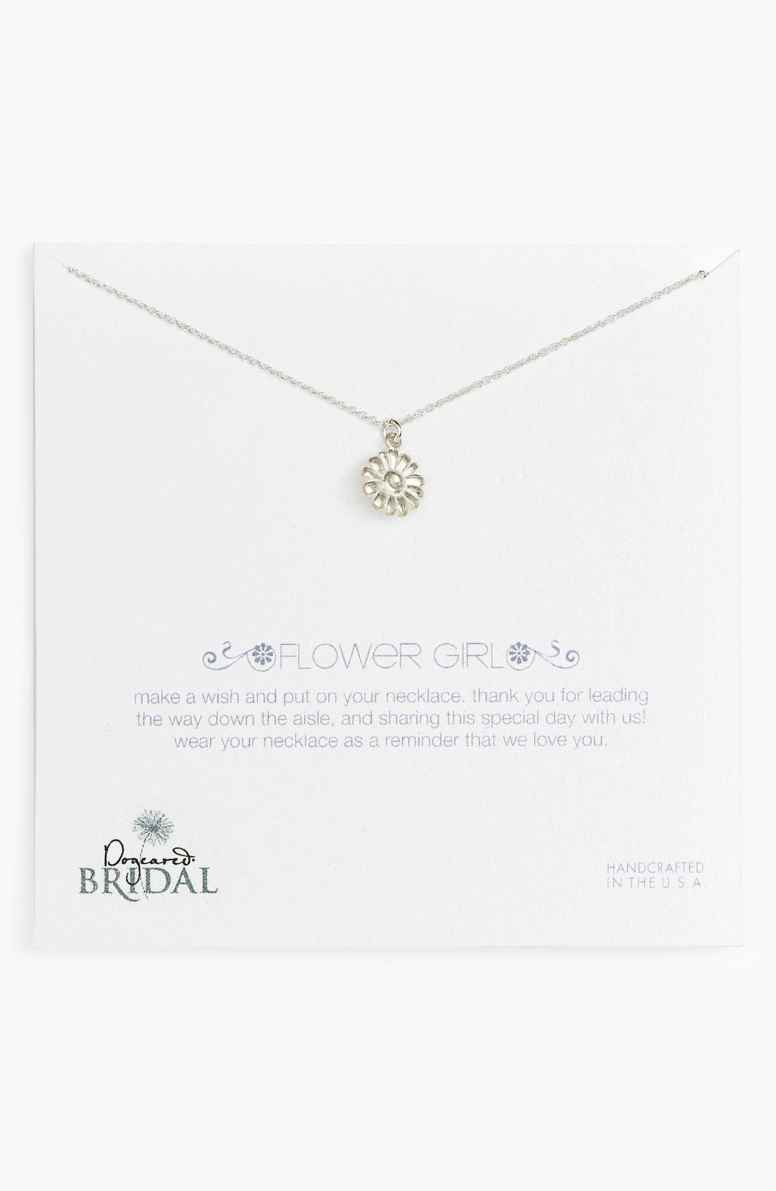 Alternate Image 1 Selected - Dogeared 'Flower Girl' Pendant Necklace (Nordstrom Exclusive)