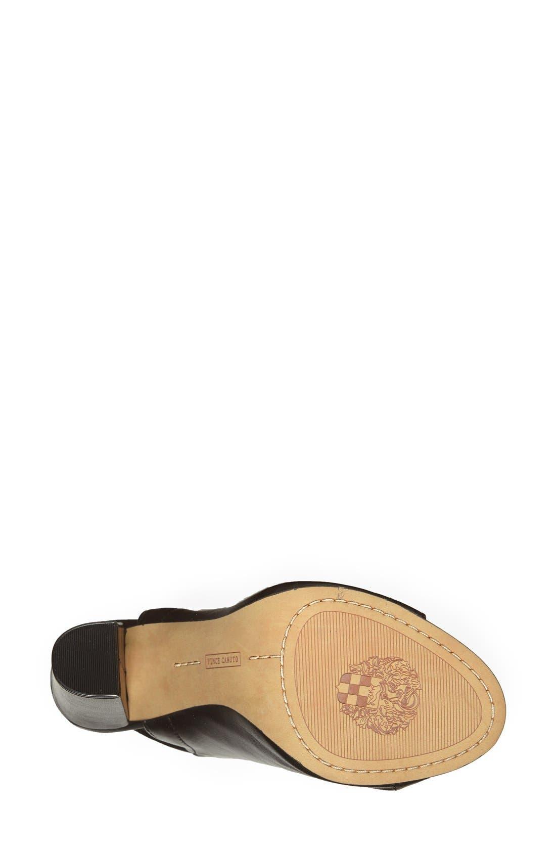 Alternate Image 4  - Vince Camuto 'Vamelia' Open Toe Leather Bootie (Women)