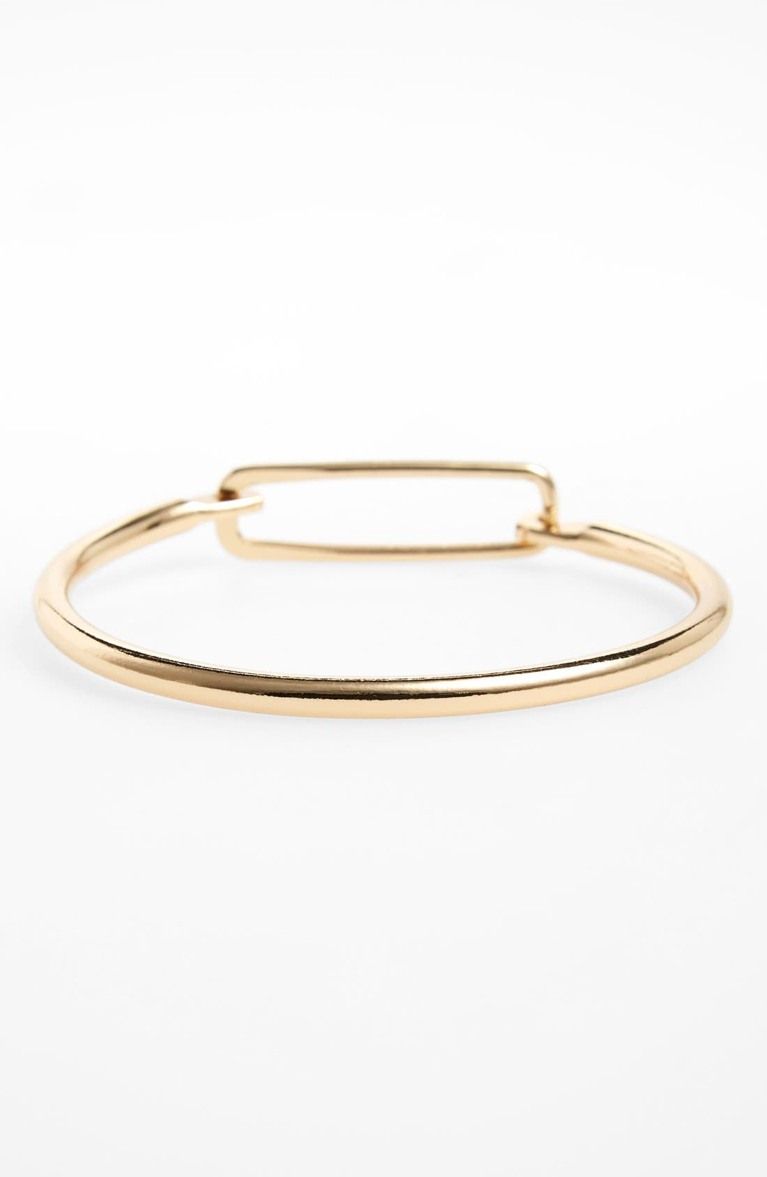 Main Image - Topshop Open Rectangle Bracelet