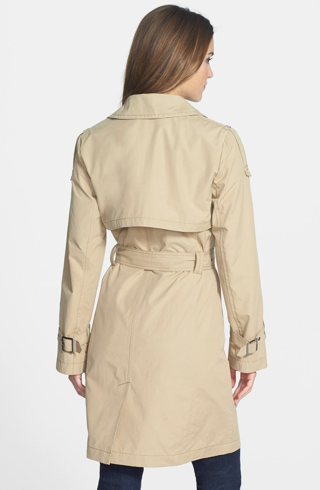 Alternate Image 2  - AB Belted Waxed Cotton Trench Coat