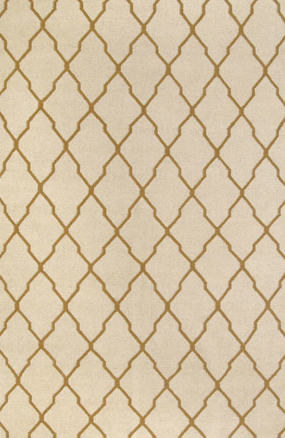 Alternate Image 1 Selected - Rizzy Home Quatrefoil Wool Rug