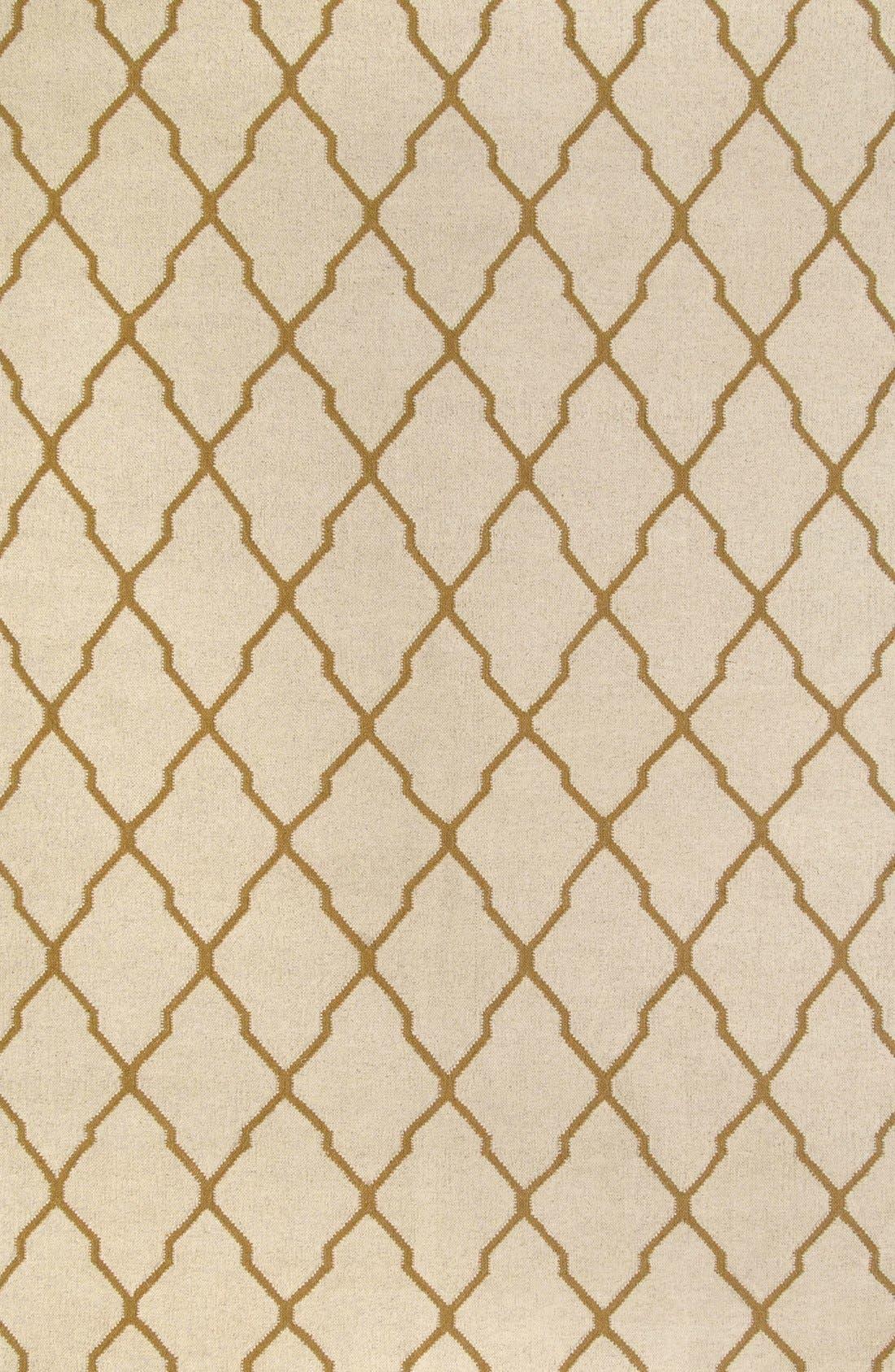 Main Image - Rizzy Home Quatrefoil Wool Rug