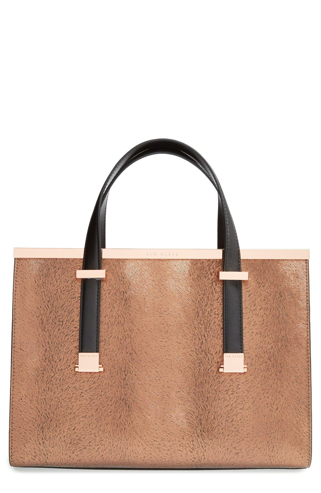 Main Image - Ted Baker London 'Marrpel' Textured Metal Tote