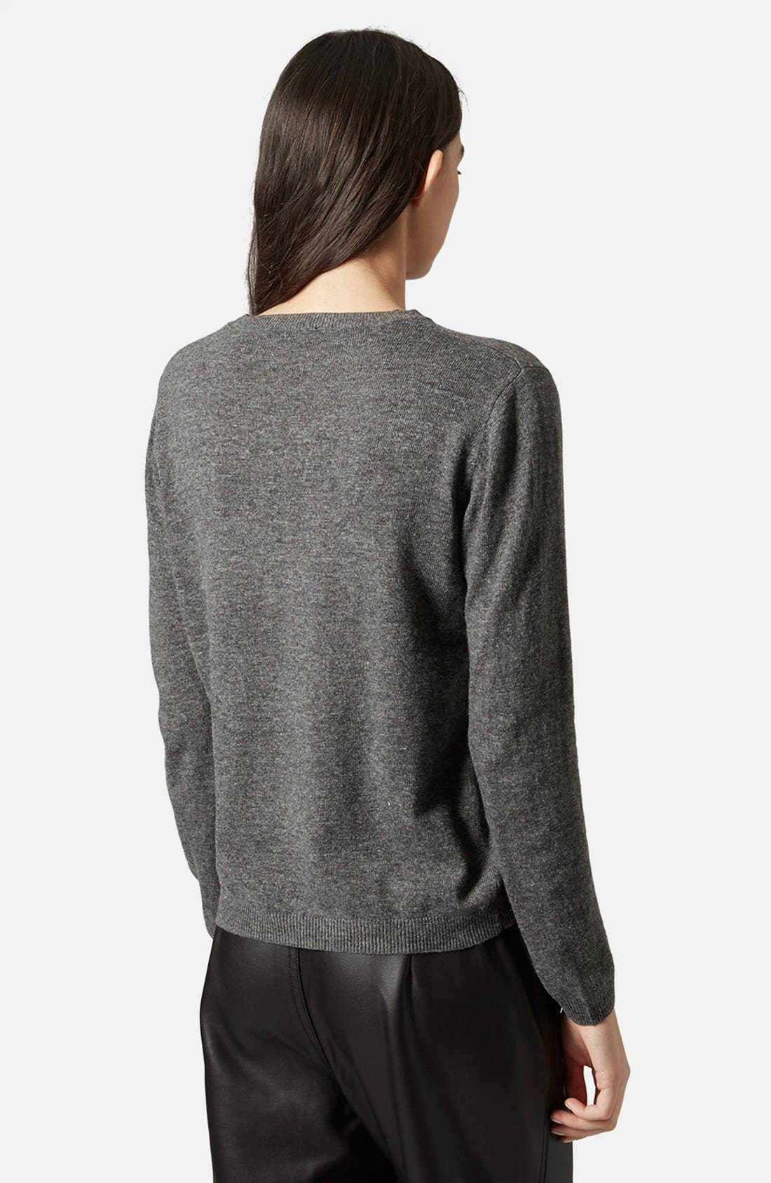 Alternate Image 2  - Topshop 'Paris, Paris' Crewneck Sweater