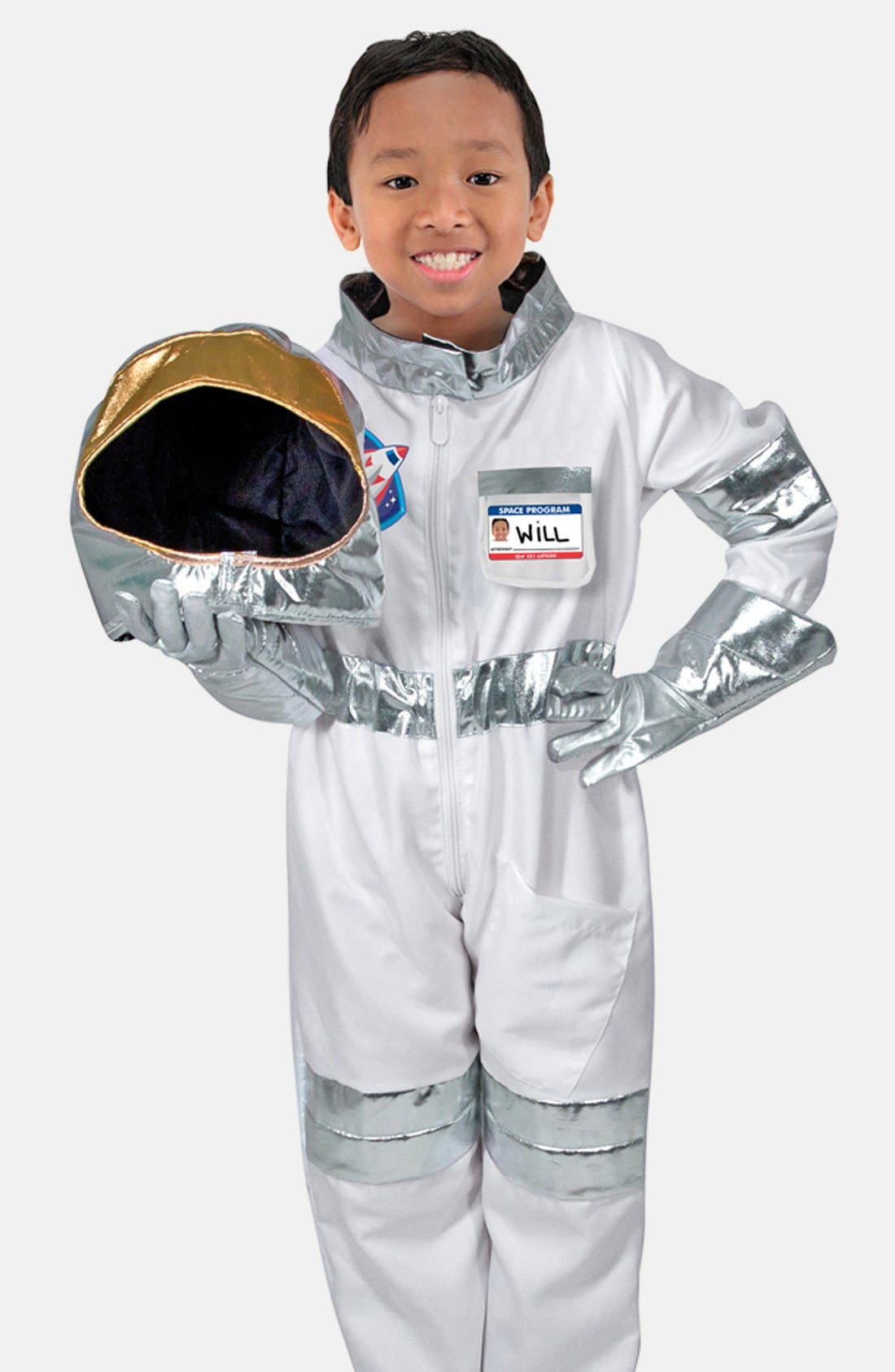 Astronaut Role Play Set,                             Main thumbnail 1, color,                             Metallic Silver