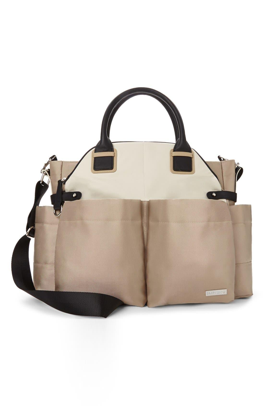 'Chelsea' Diaper Bag,                         Main,                         color, Gold