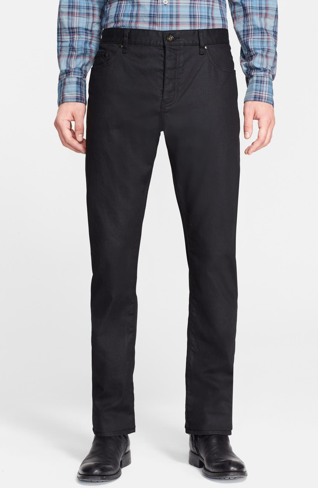 Main Image - John Varvatos Collection Slim Fit Jeans (Ink)