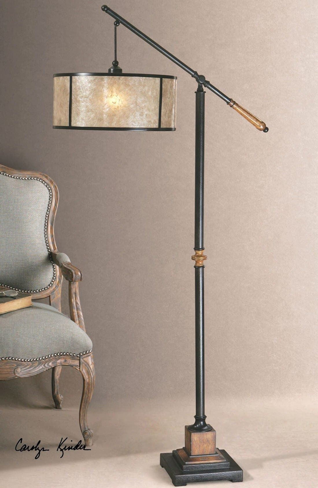 'Sitka' Lantern Floor Lamp,                             Alternate thumbnail 2, color,                             Black