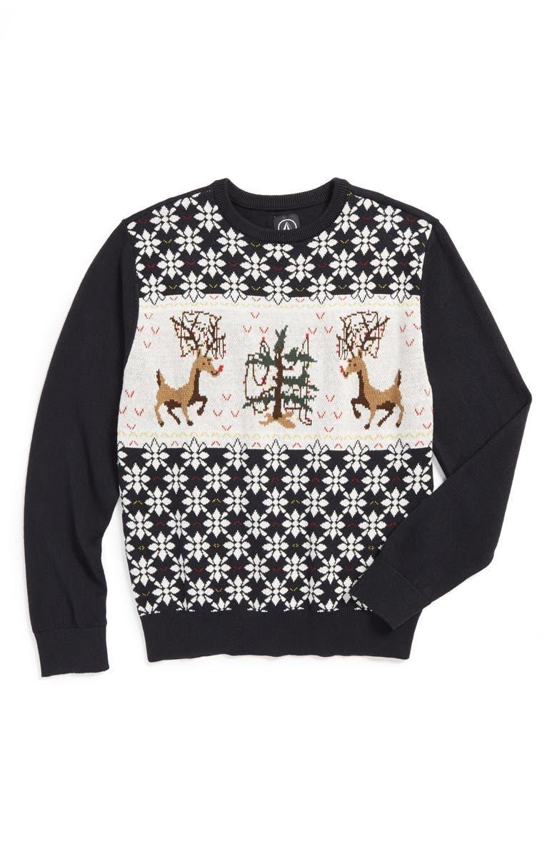 Volcom Christmas Sweater (Toddler Boys) | Nordstrom