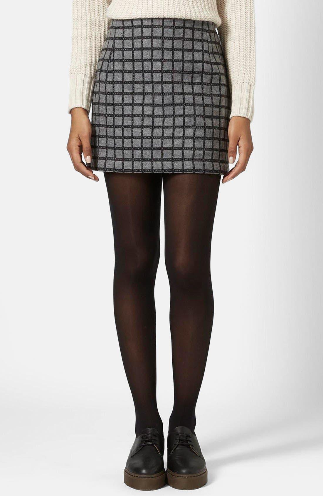 Alternate Image 1 Selected - Topshop Grid Miniskirt