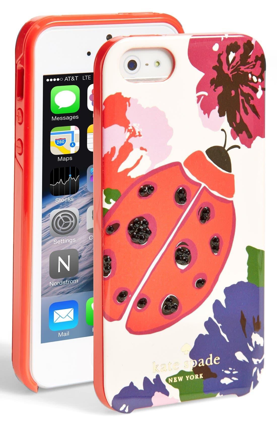 Main Image - kate spade new york 'ladybug' iPhone 5 & 5s case