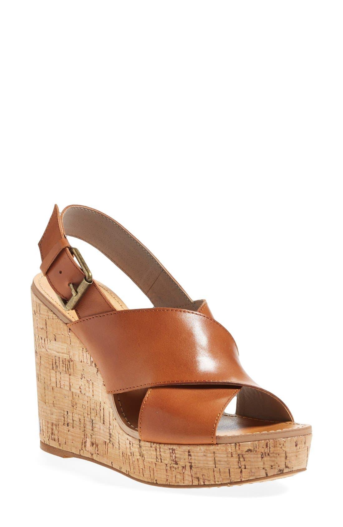 Alternate Image 1 Selected - Hinge 'Hannah' Wedge Sandal (Women)