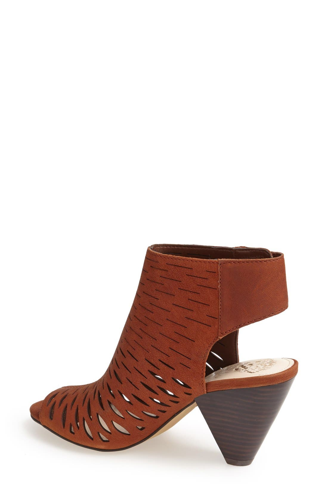 'Estell' Open Toe Bootie,                             Alternate thumbnail 2, color,                             Dark Brown