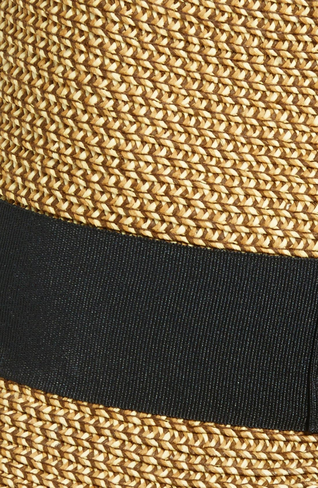 Straw Fedora,                             Alternate thumbnail 3, color,                             Natural/ Black