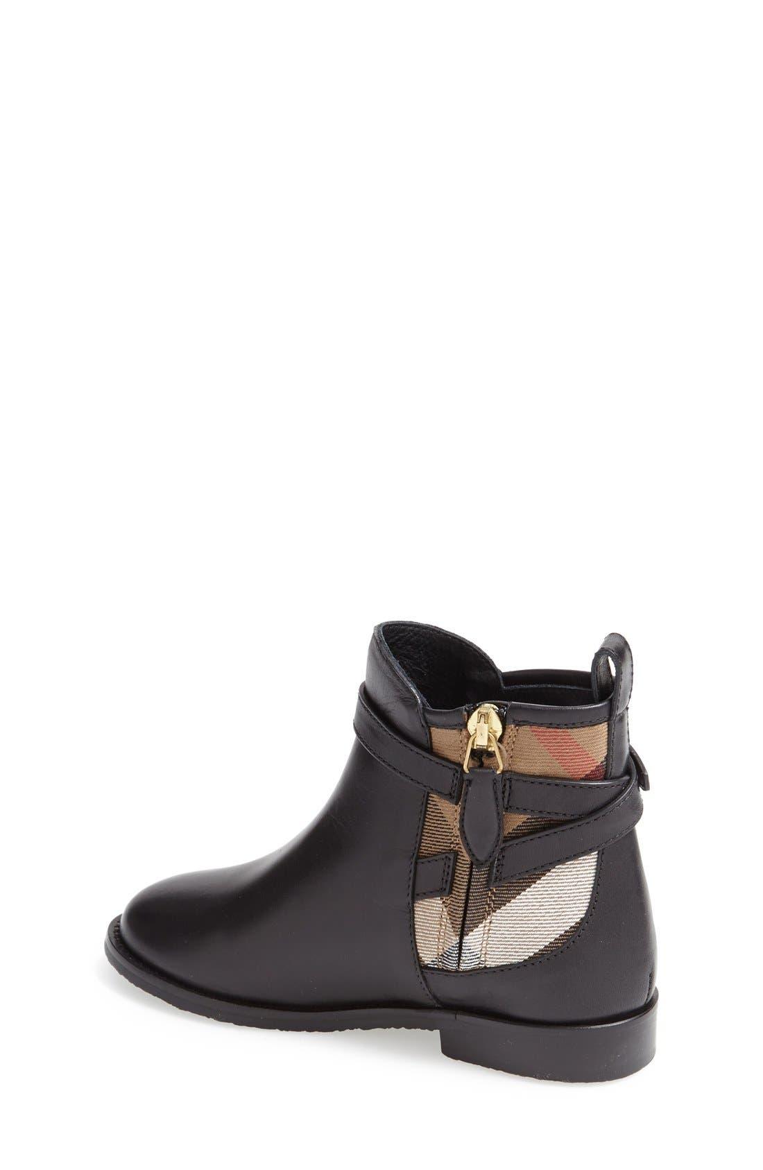 'Mini Richardson' Leather Boot,                             Alternate thumbnail 2, color,                             Black Leather