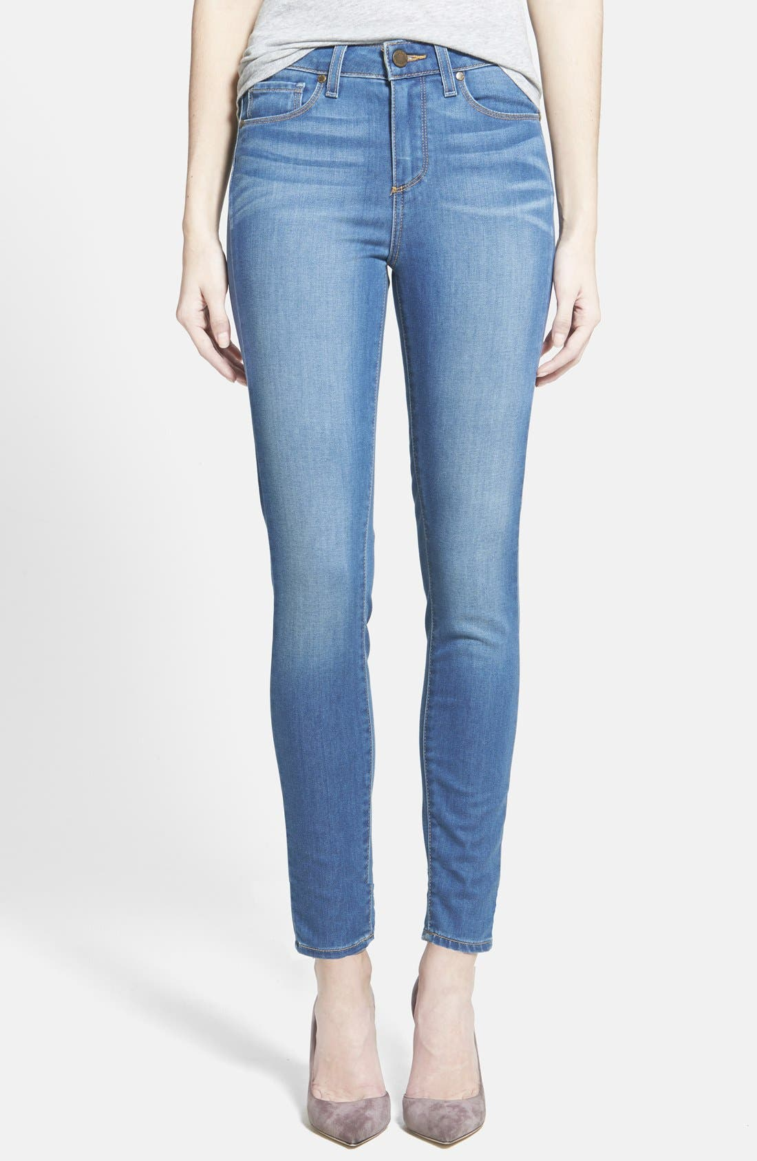 Main Image - Paige Denim 'Hoxton' Skinny Ankle Jeans (Halstead Blue)