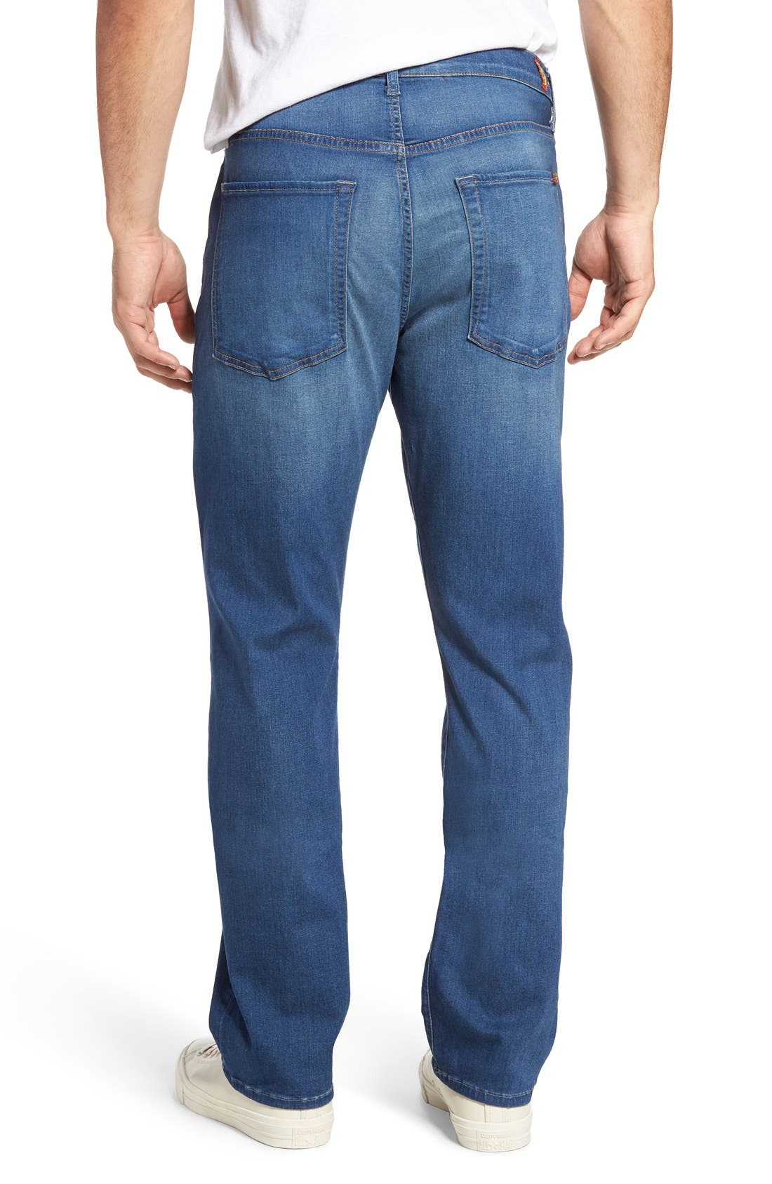 Alternate Image 2  - 7 For All Mankind® The Straight Luxe Performance Slim Straight Leg Jeans (Retrograde)