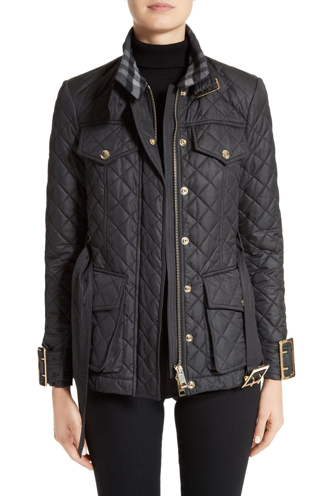 Alternate Image 1 Selected - Burberry Haddingfield Quilted Field Jacket