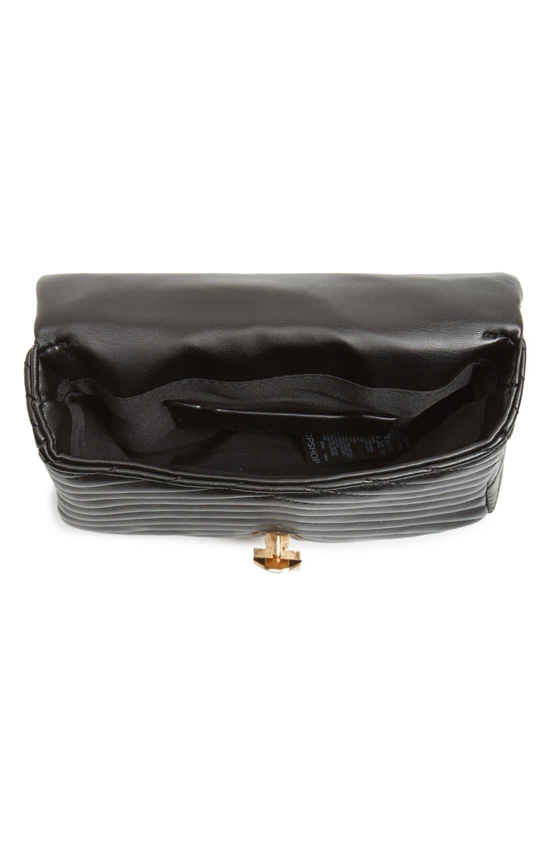 Alternate Image 5  - Topshop Quilted Crossbody Bag