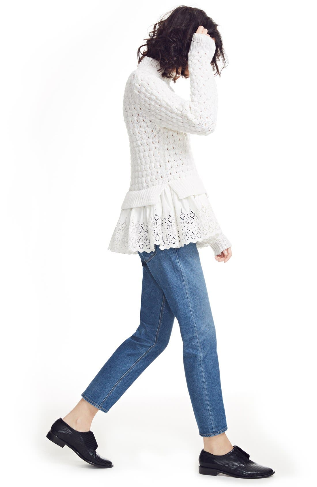 Alternate Image 2  - Rebecca Taylor Eyelet Mock Neck Sweater